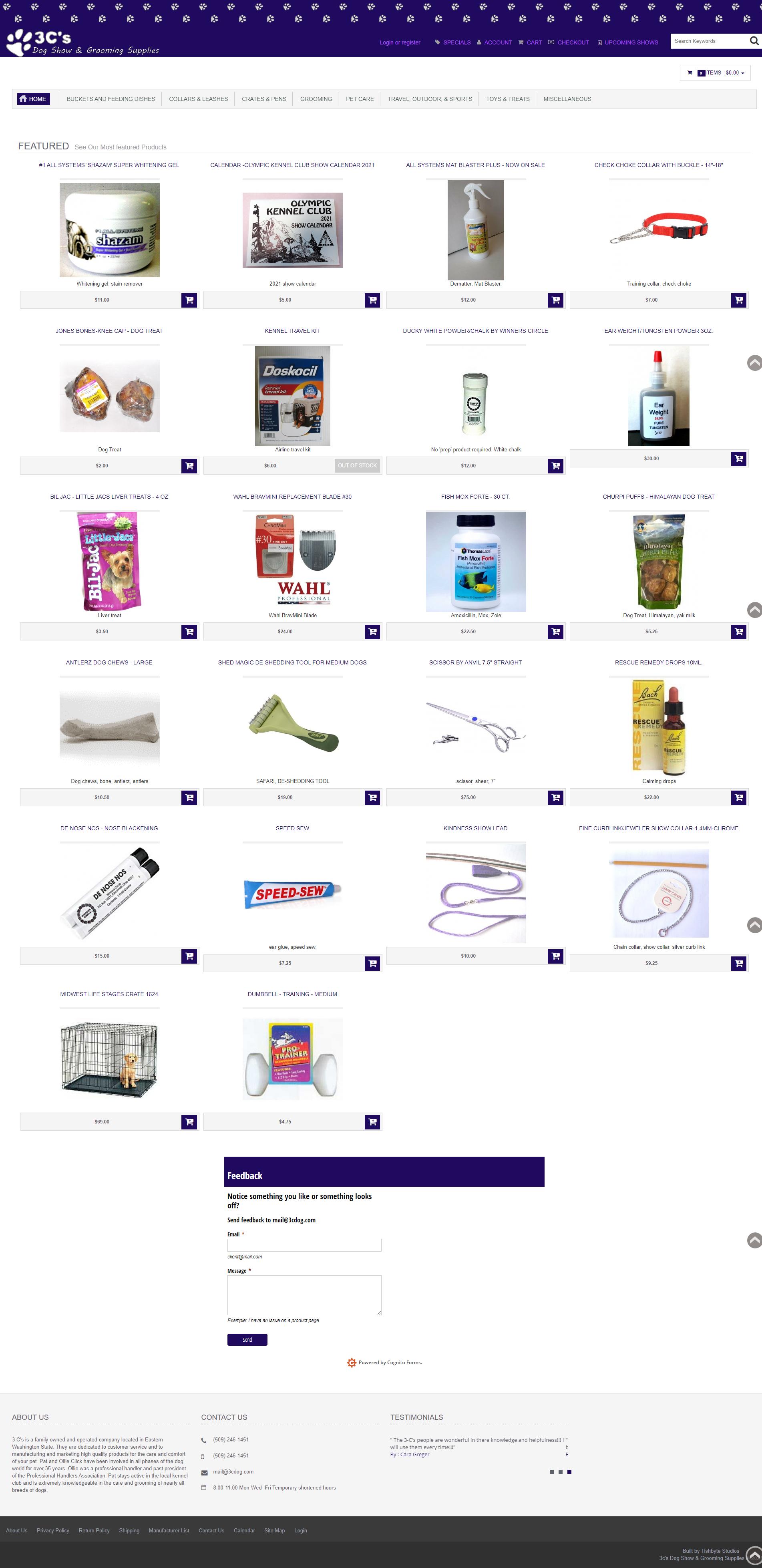 New 3C's website screenshot