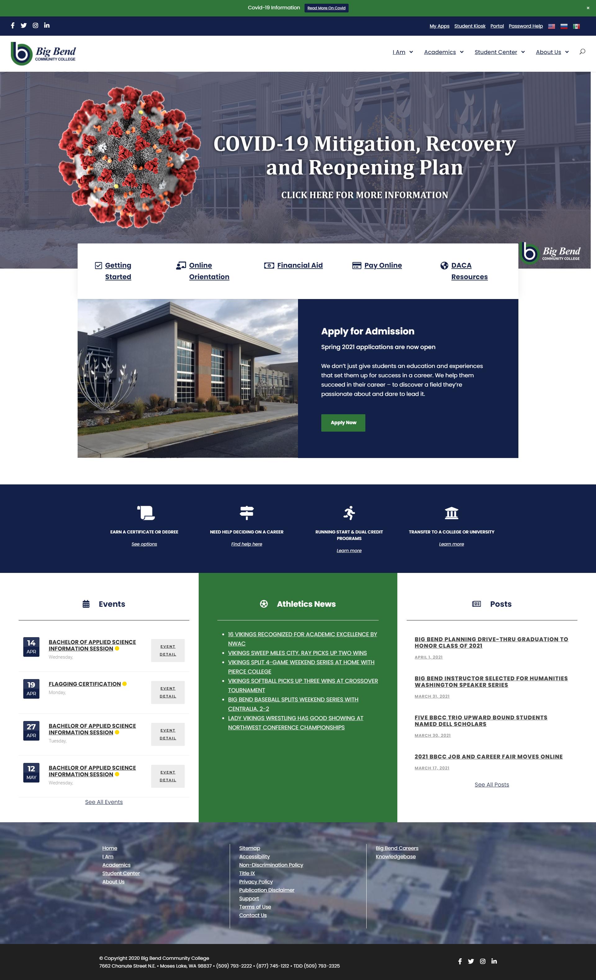New BBCC website screenshot