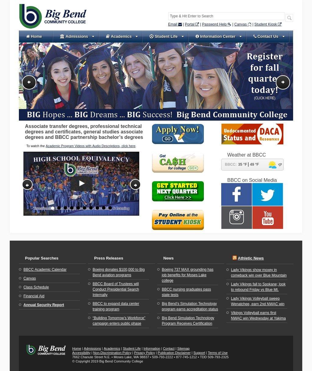 Old BBCC website screenshot